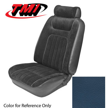 1979-1980 Mustang HB Std Low Back Seat Upholstery- Vinyl, Blue