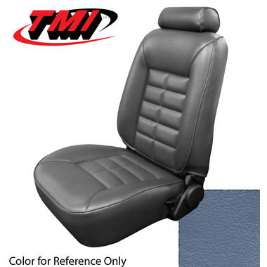 1983 Mustang GL/GLX/GT Conv Low Back Seat Upholstery- Vinyl, Academy Blue