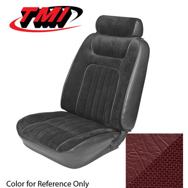 1979-1980 Mustang Cpe Std Low Back Seat Upholstery- Cloth & Vinyl, Red