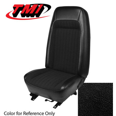 1979-1980 Mustang HB Std High Back Seat Upholstery- Vinyl, Black