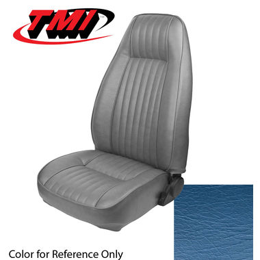 1981 Mustang Cpe High Back Seat Upholstery- Vinyl, Wedgewood Blue