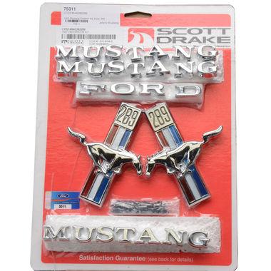 1967 Mustang Emblem Kit, 8 cyl, 289