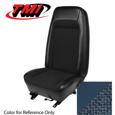 1979-1980 Mustang HB Std Low Back Seat Upholstery- Cloth & Vinyl, Blue