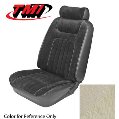 1979-1980 Mustang Ghia Cpe Low Back Seat Upholstery- Vinyl, White