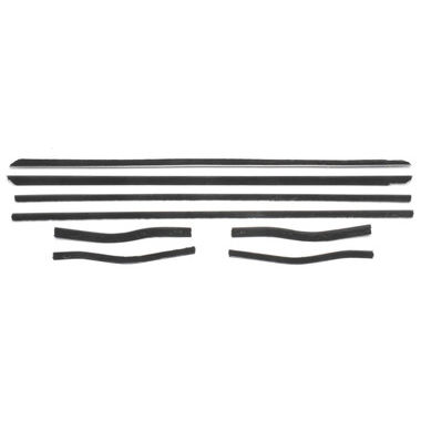 1965-1966 Mustang Windowfelt Kit, Door & Quarter, 8 pcs, USA