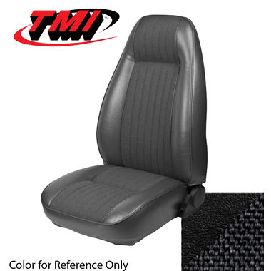 1981 Mustang Cpe High Back Seat Upholstery- Cloth & Vinyl, Black