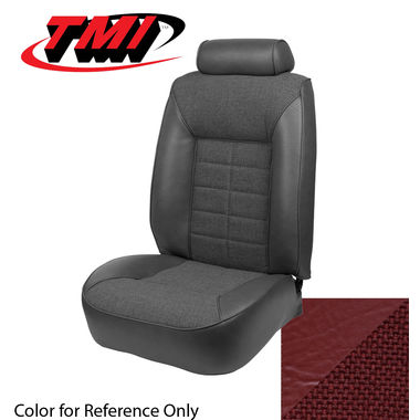1981 Mustang Cpe Low Back Seat Upholstery, Cloth & Vinyl, Medium Red