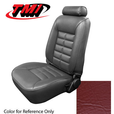 1987-1992 Mustang Cpe Low Back Seat Upholstery- Vinyl, Scarlet Red