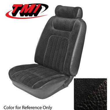 1979-1980 Mustang Ghia Cpe Low Back Seat Upholstery- Vinyl, Black
