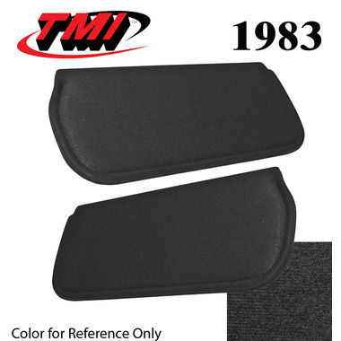 1983 Mustang Cpe & HB Sunvisors, Cloth, Black