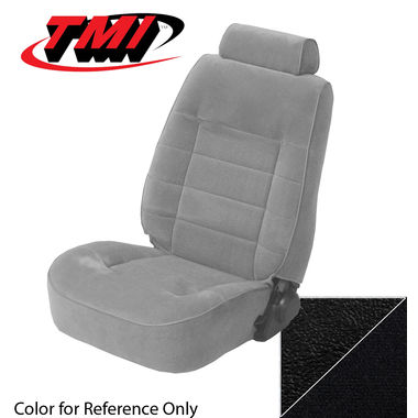 1979-1980 Mustang Ghia HB Low Back Seat Upholstery- Cloth & Vinyl, Black