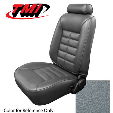 1987-1989 Mustang HB Low Back Seat Upholstery- Vinyl, Medium Gray