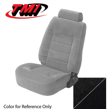 1983 Mustang GLX/GT Cpe Low Back Seat Upholstery- Cloth & Vinyl, Black